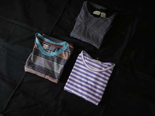 Stripe tees sold per pack on this package