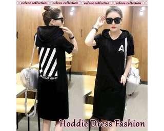 Baju Korea Drs Hoodie Fashion Black