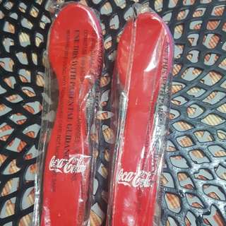 Brandnew buy1take1 coke coca cola spoon and fork with case