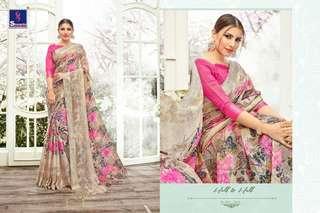 Floral garden saree