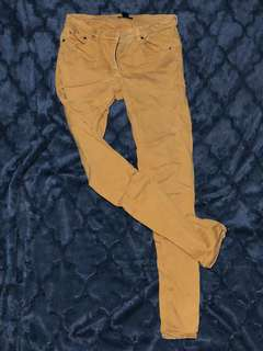 H&M custard denim pants