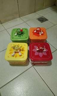 全新M&M's陶瓷收納盒