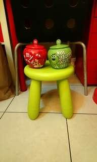 全新M&M's陶瓷糖果罐組