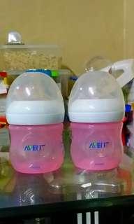 Avent pink bottles