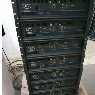JBL 專用級。內置電子分音QSC MX2000A $12000兩部