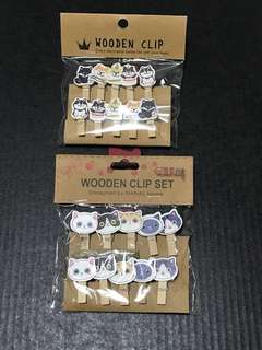 Cat 🐈 & Dog 🐕Wooden Clips Set