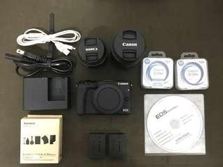 Canon EOS M3 15-45mm STM+55-200mm STM雙鏡組 (公司貨)