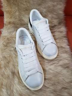 Authentic Alexander McQueen Ladies White Sneakers Size 35
