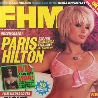 FHM Magazine March 2004 Paris Hilton