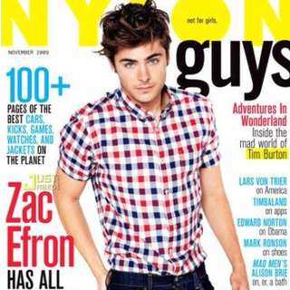 Nylon Guys November 2009 Zac Efron
