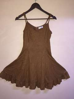 Orig hip culture dress suede like material new with tags