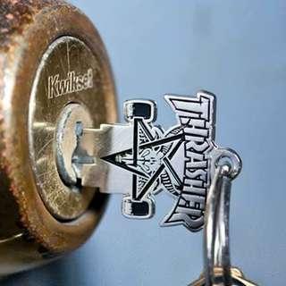 THRASHER LOGO 鎖匙