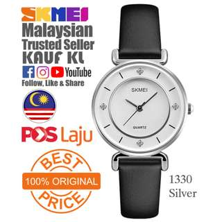 SKMEI 1133 Ori Silver Lady Woman Women Watch Jam Tangan Wanita Design Like Casio Fossil