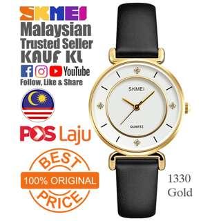 SKMEI 1133 Ori Gold Lady Woman Women Watch Jam Tangan Wanita Design Like Casio Fossil