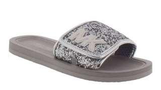 Brand New Michael Kors Gray Slides