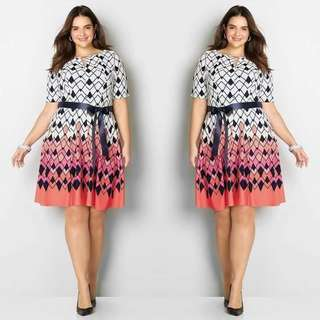 Plus size spandex dress