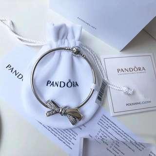 澳洲直送 正貨 2018 Pandora 潘多拉最新款                蝴蝶結手鍊全套$499 (實物圖)