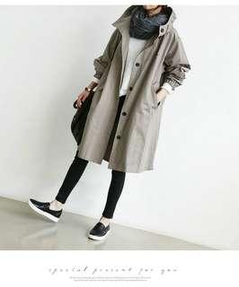 Hooded Loose Trench Coat (XL-3XL)794 JPN