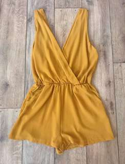Molly Wrap Front Playsuit Size Small