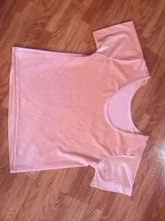 velvet pink top