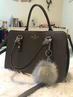 Kate Spade grey leather bag