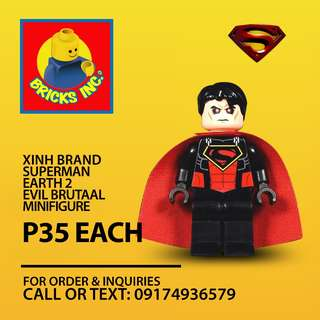 XINH™ Superman Earth 2 Evil Brutaal Minifigures