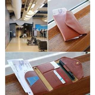 Korean travel wallet passport (dompet banyak sekat, muat paspor, hp, uang)