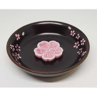 Japanese Cherry Blossoms Incense Holder 日式樱花线香插