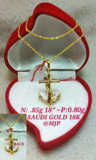 18K SAUDI GOLD NECKLACES PAWNABLE