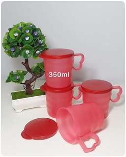 Royal Red Mug With Seal Set (4pcs)