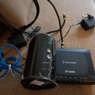 ADSL modem and Wi-Fi router