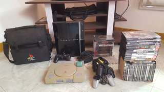 Play station 1 and 3 w/disc.