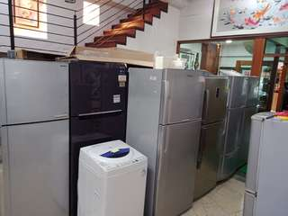 fridge and washing machine cheap cheap with free delivery (2nd hand)