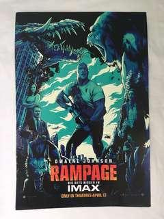 Original 'Rampage' movie poster