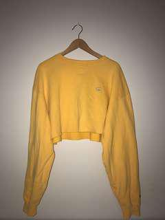 Yellow cropped champion top