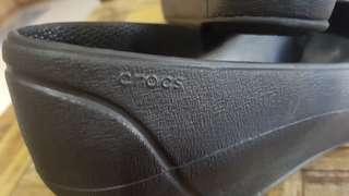 Crocs wedge black shoes