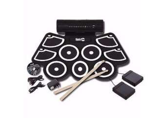 能捲起的 roll up electronic drum set!