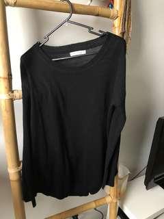 Slideshow Black Knit Jumper Size 10