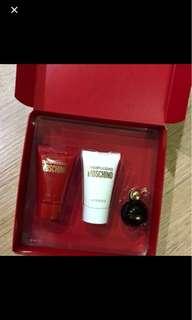 Moschino lotion and perfume