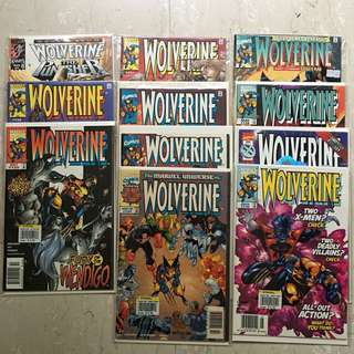11 copies of Comics: WOLVERINE