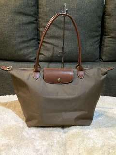 ON HAND: Authentic Longchamp Le Pliage Long Handle Bag - Large