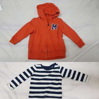 Mothercare Baby Jacket and long sleeve shirt