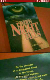 Supernatural Horror Singapore FICTION Local Novel book Local Novel Author Writer book singapore Horror Paranormal Ghost  When Night FALLS MARTIN LIANG    Watch your back! There's no turning back....   A romance-horror