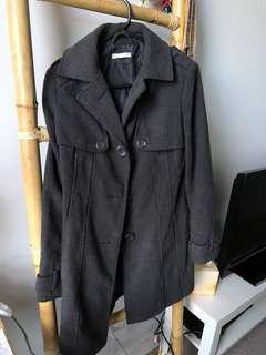 Dark Grey Charcoal Winter Coat Size 8