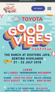 Good Vibes Festival 2018 tickets
