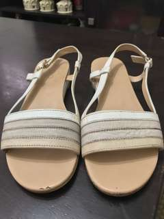 Aldo sandals, used, with flaws. Please see pics
