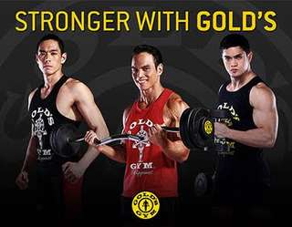 60% Off 1 Year Membership at Gold's Gym Philippines (LIMITED SLOTS ONLY)