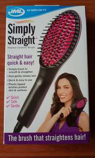 Brush that straightens hair!