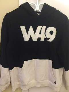 West49 black and white sweater
