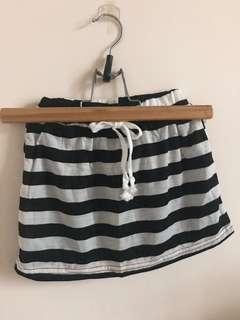 🚚 條紋裙褲
